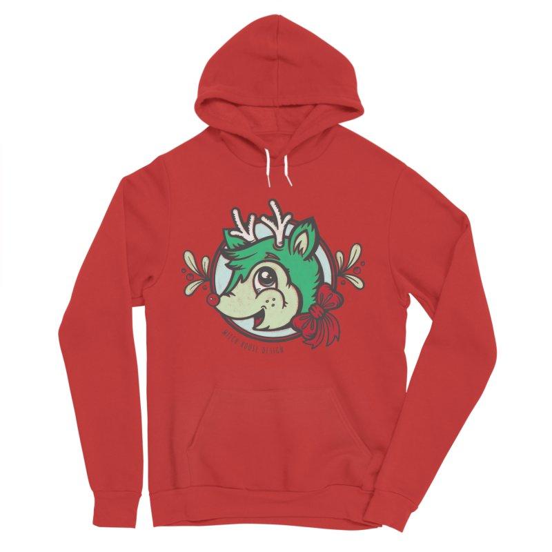 Happy Holi-Deer! Men's Sponge Fleece Pullover Hoody by Witch House Design