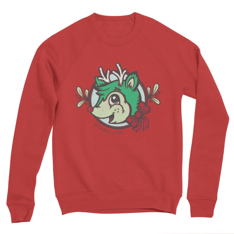 Happy Holi-Deer! Men's Sponge Fleece Sweatshirt by Witch House Design