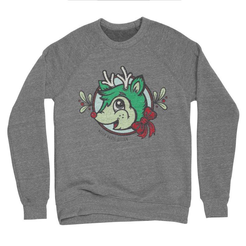 Happy Holi-Deer! Women's Sponge Fleece Sweatshirt by Witch House Design