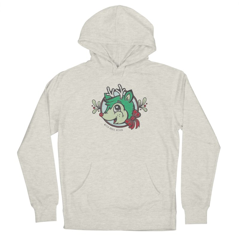 Happy Holi-Deer! Men's Pullover Hoody by Witch House Design