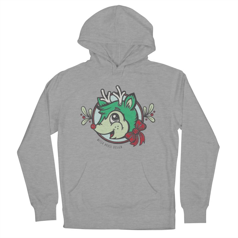 Happy Holi-Deer! Women's French Terry Pullover Hoody by Witch House Design