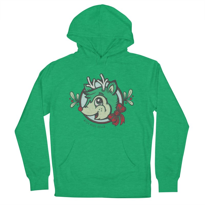 Happy Holi-Deer! Men's French Terry Pullover Hoody by Witch House Design