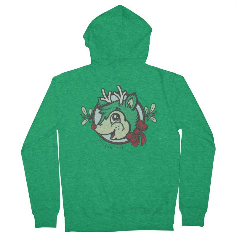 Happy Holi-Deer! Women's Zip-Up Hoody by Witch House Design