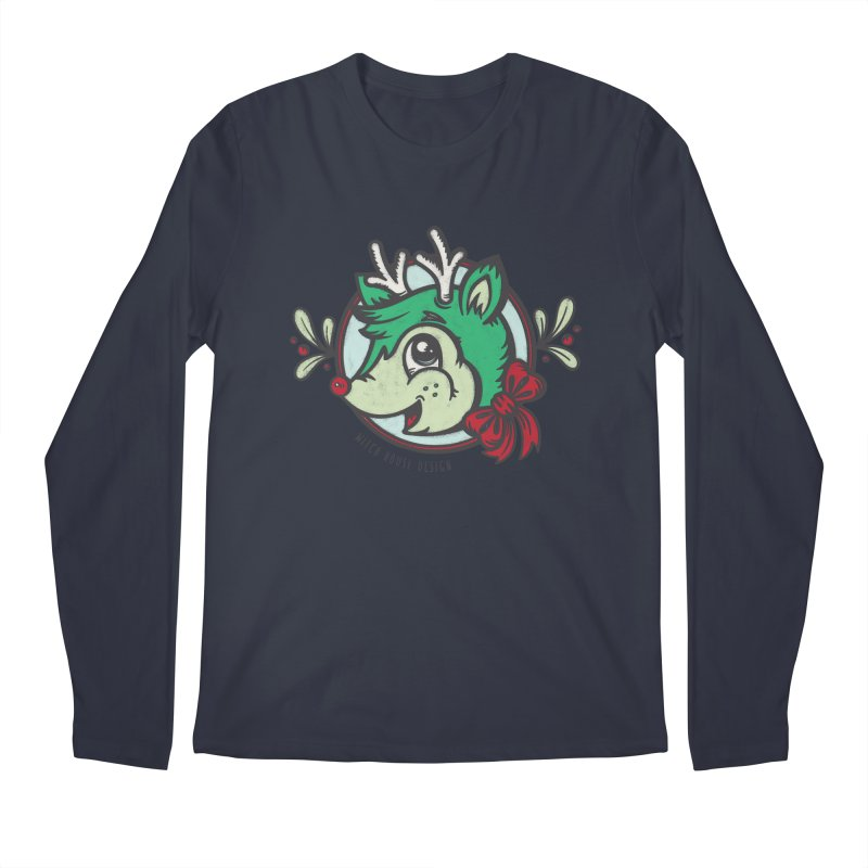 Happy Holi-Deer! Men's Regular Longsleeve T-Shirt by Witch House Design