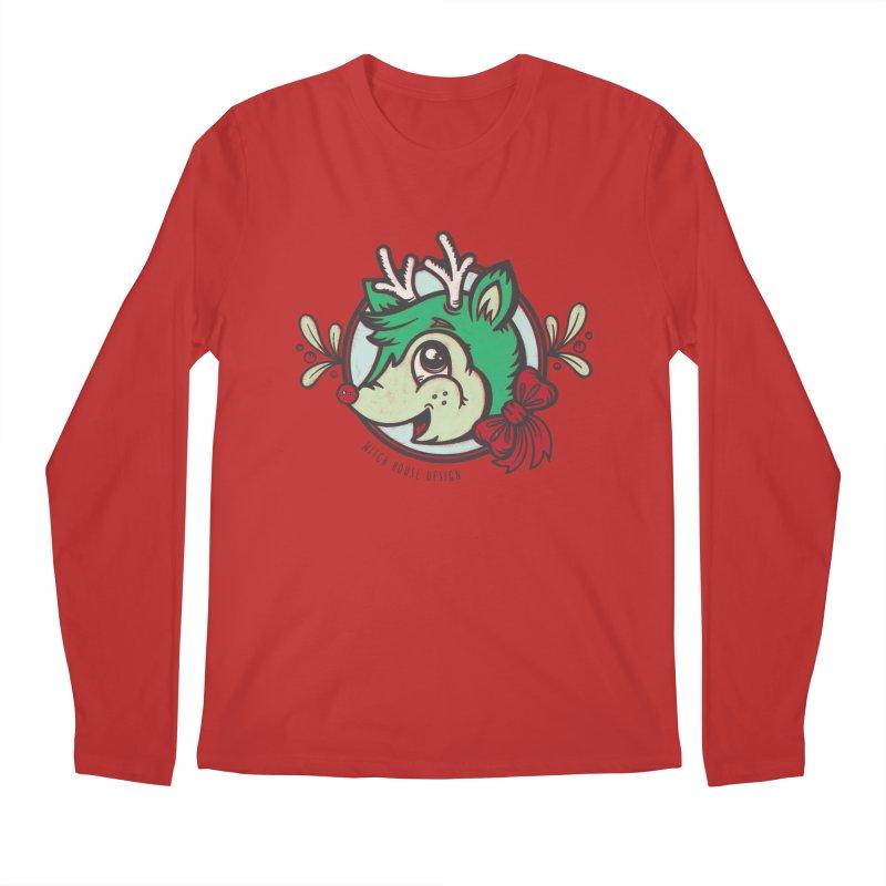 Happy Holi-Deer! Men's Regular Longsleeve T-Shirt by Witch House Design