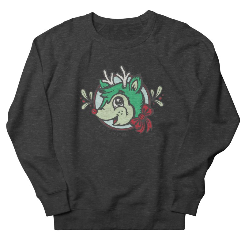 Happy Holi-Deer! Men's French Terry Sweatshirt by Witch House Design