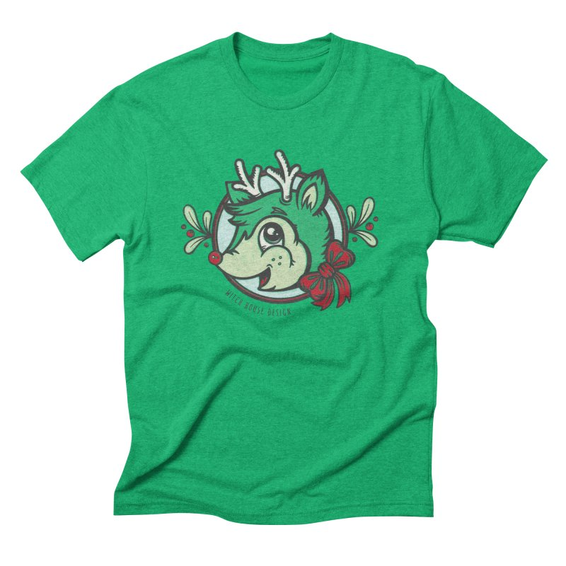 Happy Holi-Deer! Men's Triblend T-Shirt by Witch House Design