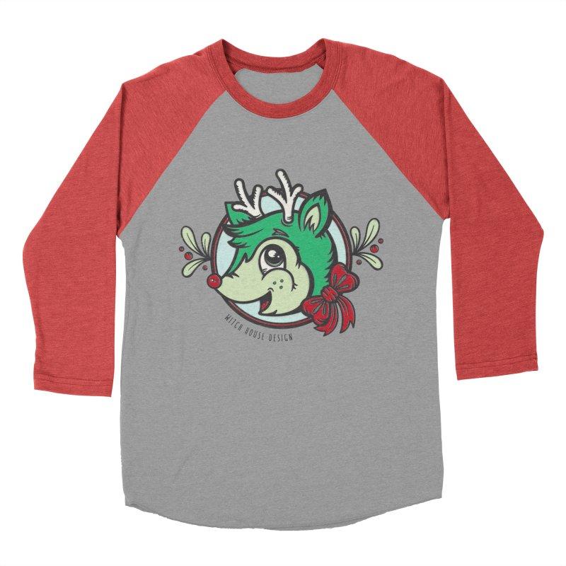 Happy Holi-Deer! Men's Baseball Triblend Longsleeve T-Shirt by Witch House Design