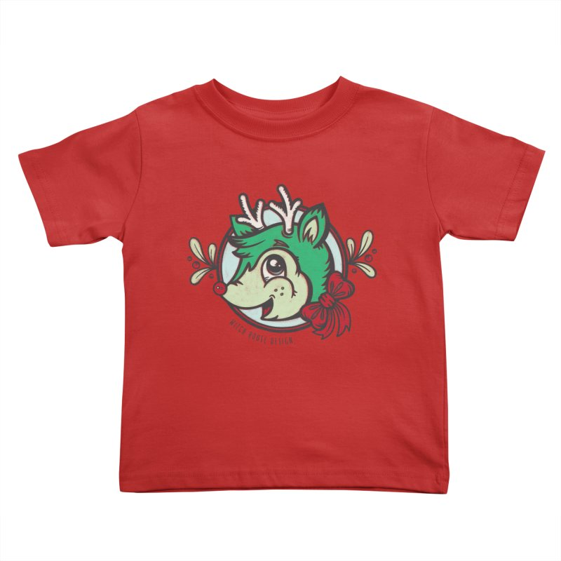 Happy Holi-Deer! Kids Toddler T-Shirt by Witch House Design