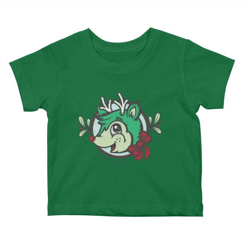 Happy Holi-Deer! Kids Baby T-Shirt by Witch House Design