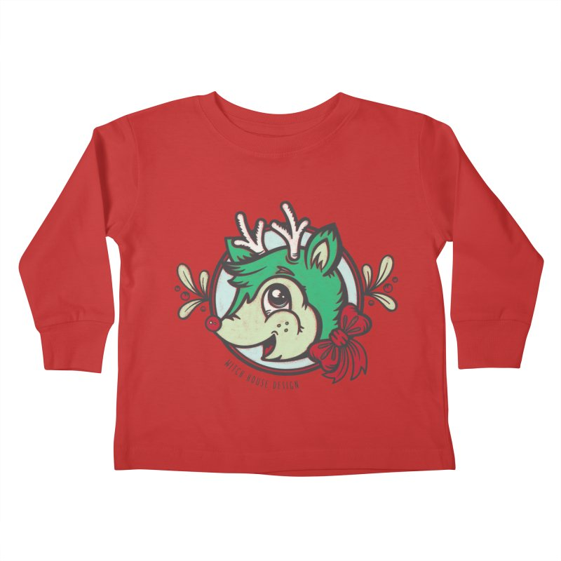 Happy Holi-Deer! Kids Toddler Longsleeve T-Shirt by Witch House Design