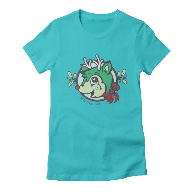 Happy Holi-Deer! Women's Fitted T-Shirt by Witch House Design