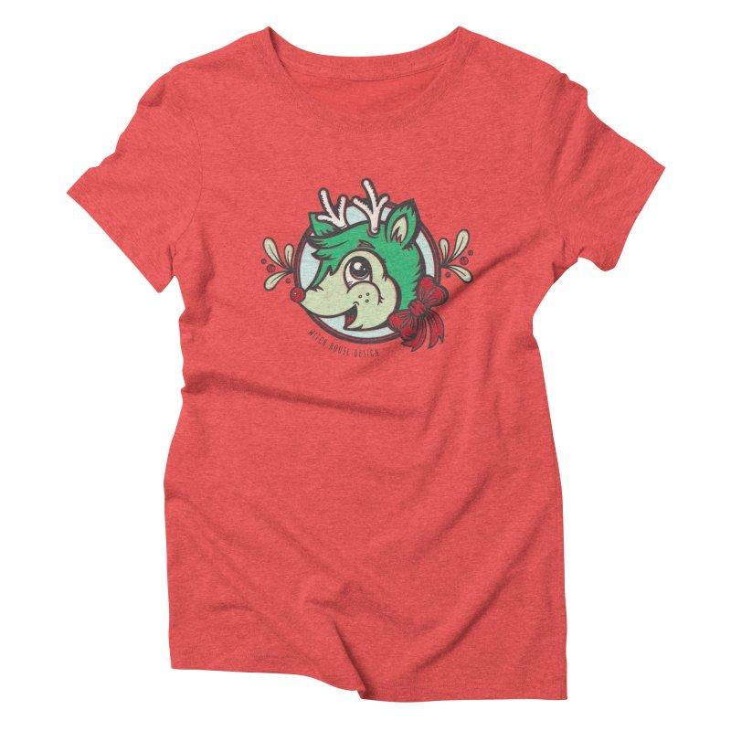 Happy Holi-Deer! Women's Triblend T-Shirt by Witch House Design