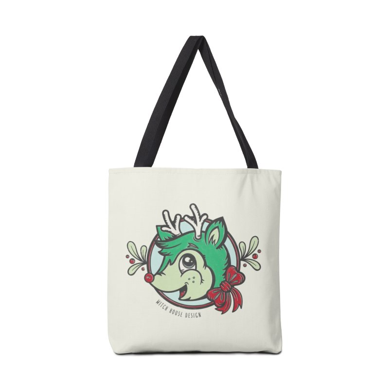Happy Holi-Deer! Accessories Tote Bag Bag by Witch House Design
