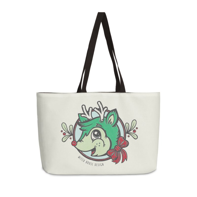 Happy Holi-Deer! Accessories Weekender Bag Bag by Witch House Design