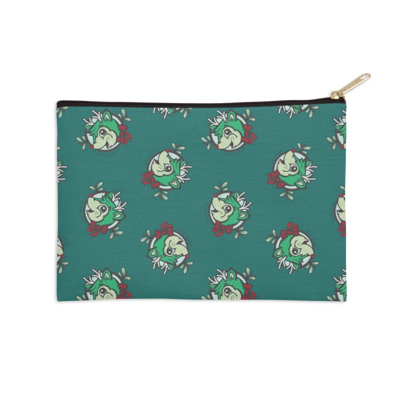 Happy Holi-Deer! Accessories Zip Pouch by Witch House Design