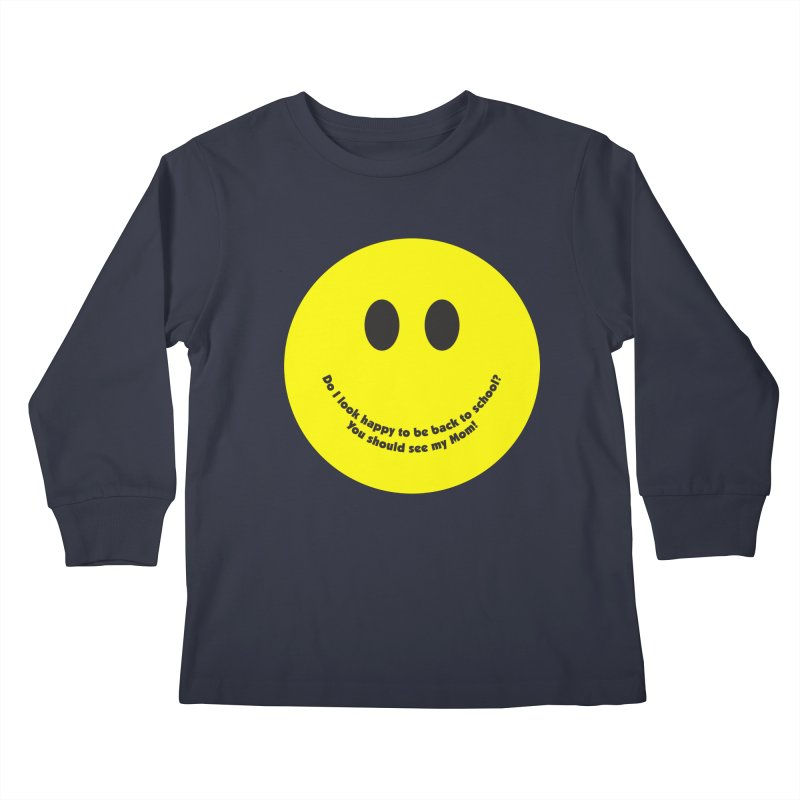 Back to School Happiness Kids Longsleeve T-Shirt by Witee Designs