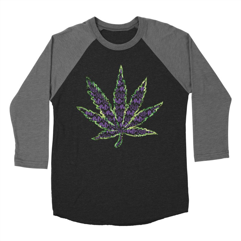 Purple Kush in Men's Baseball Triblend T-Shirt Grey Triblend Sleeves by wizardfart's Artist Shop