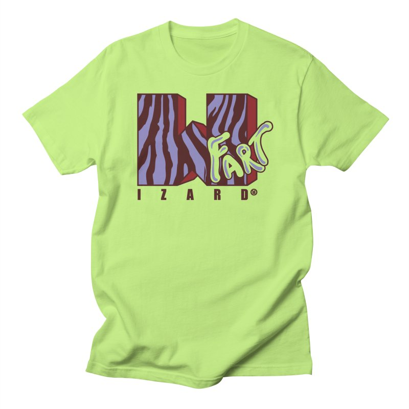Pink Zebra in Men's T-shirt Neon Green by wizardfart's Artist Shop