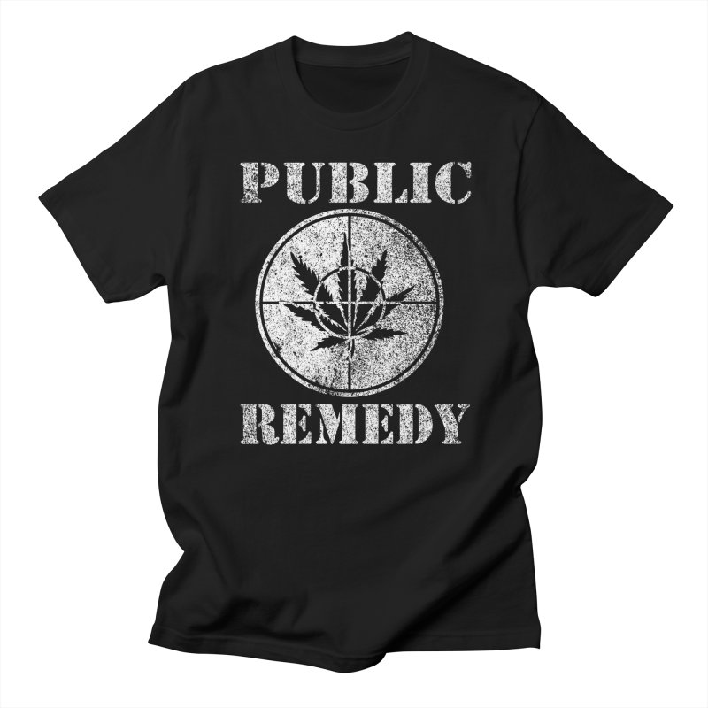 Public Remedy 1 Color in Men's T-shirt Black by wizardfart's Artist Shop