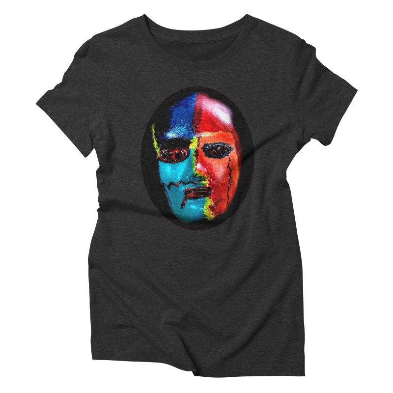 Masked Man Women's Triblend T-Shirt by #woctxphotog's Artist Shop