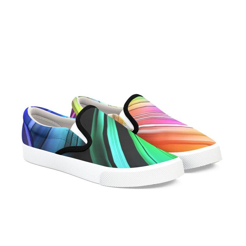 Lots Of Color Men's Slip-On Shoes by #woctxphotog's Artist Shop