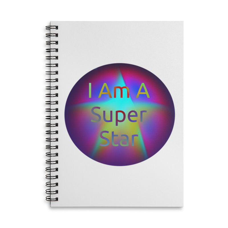 Super Star Accessories Lined Spiral Notebook by #woctxphotog's Artist Shop
