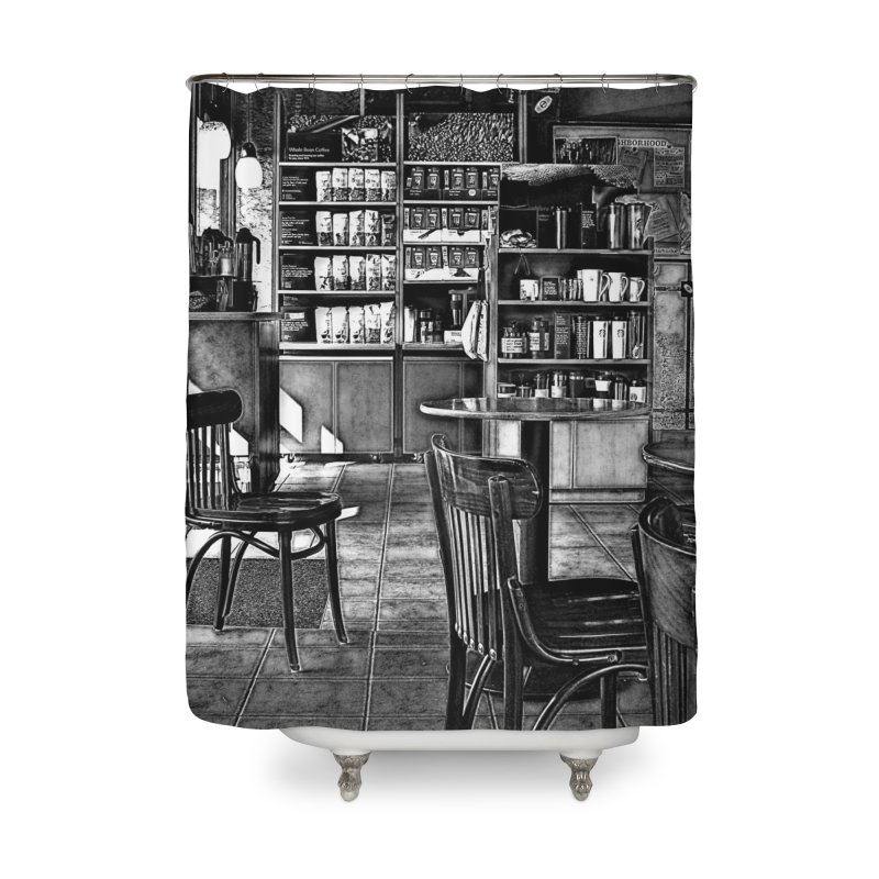 Coffee Shop Home Shower Curtain by #woctxphotog's Artist Shop