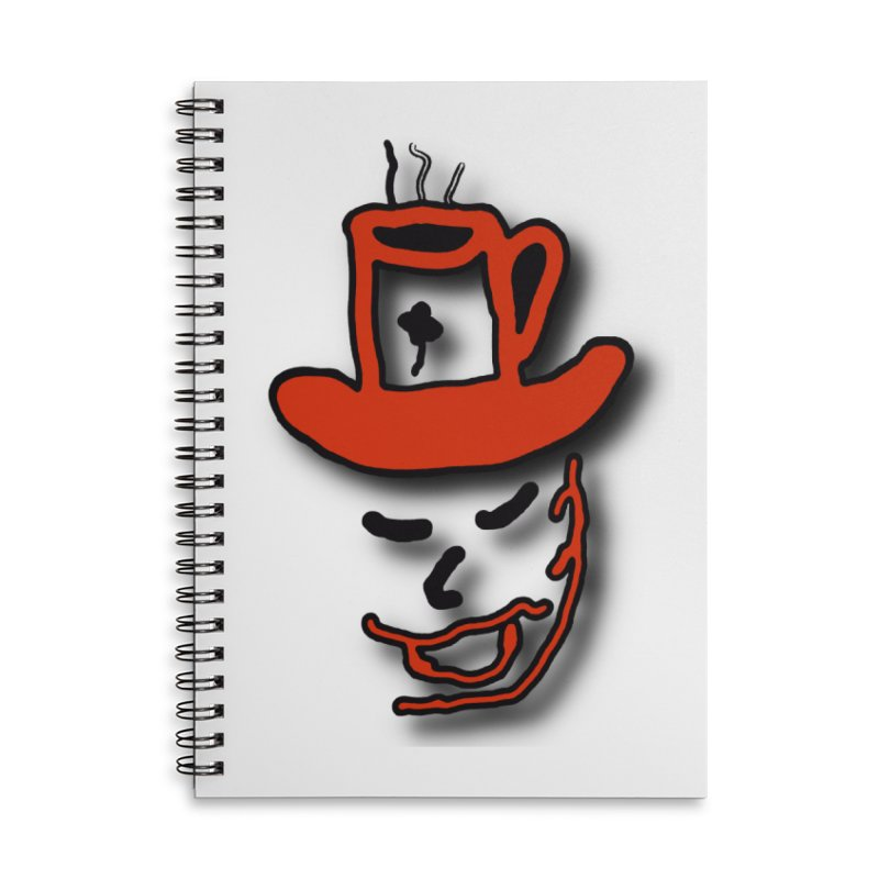 Coffee Hat Man Accessories Lined Spiral Notebook by #woctxphotog's Artist Shop