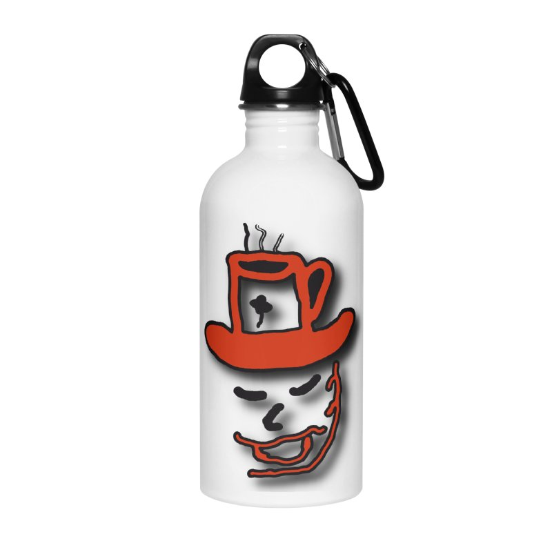 Coffee Hat Man Accessories Water Bottle by #woctxphotog's Artist Shop