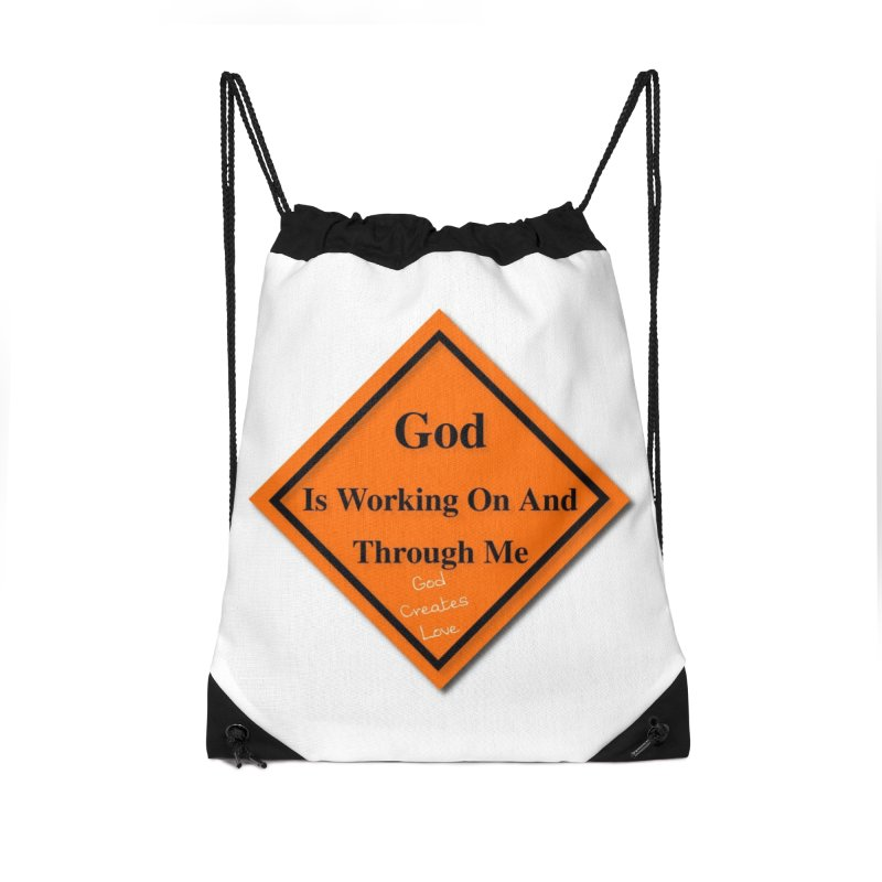 God Is Working Accessories Drawstring Bag Bag by #woctxphotog's Artist Shop