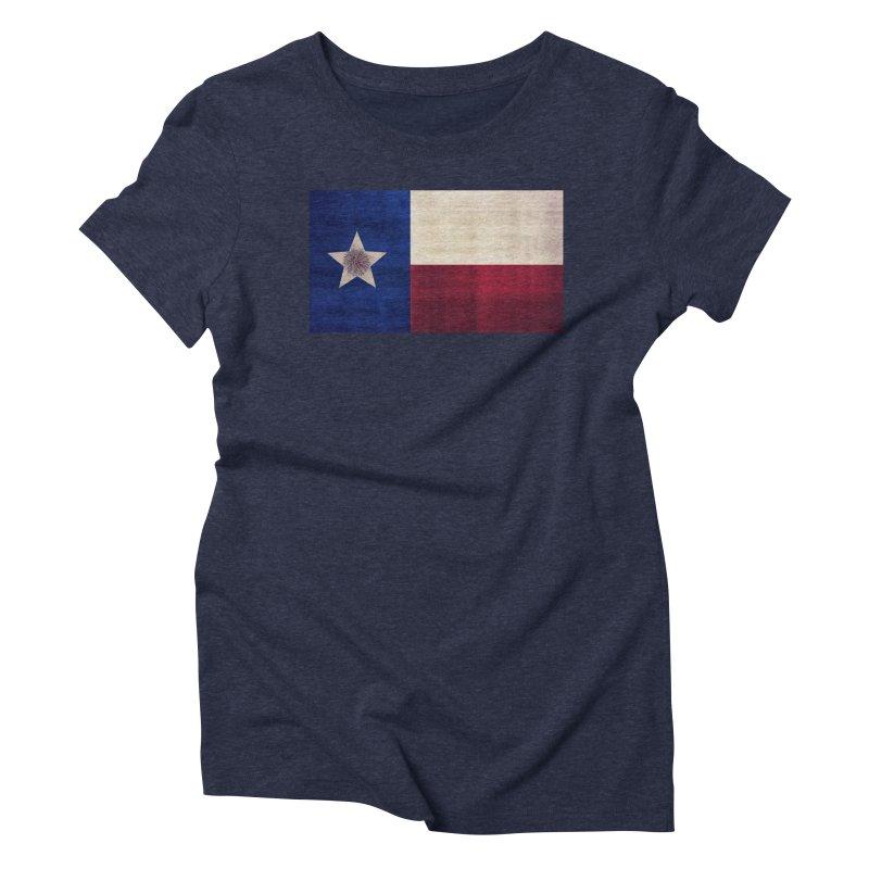 Flag of Texas Women's Triblend T-Shirt by #woctxphotog's Artist Shop