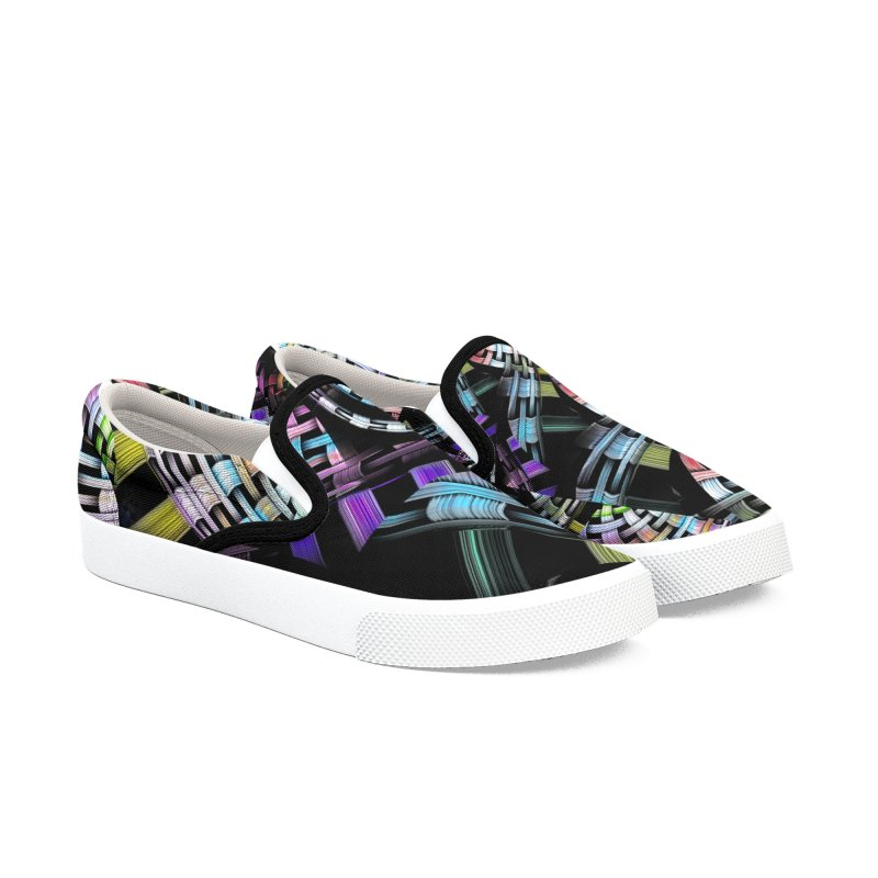 Crazy Chaos Women's Slip-On Shoes by #woctxphotog's Artist Shop
