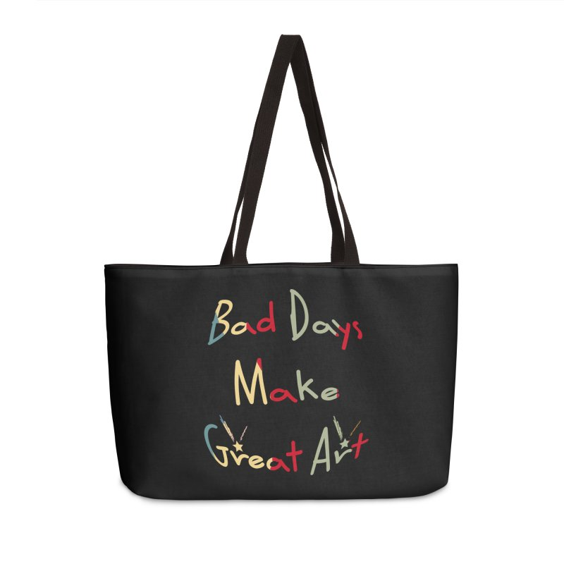 Bad Days Accessories Weekender Bag Bag by #woctxphotog's Artist Shop