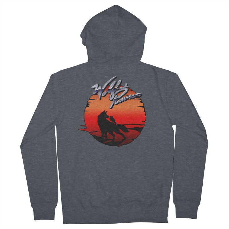 Wolf and Raven Sunset 1 Men's French Terry Zip-Up Hoody by Wolf and Raven Artist Shop