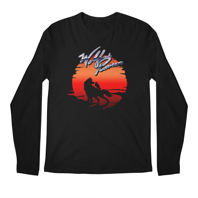 Wolf and Raven Sunset 1 Men's Regular Longsleeve T-Shirt by Wolf and Raven Artist Shop