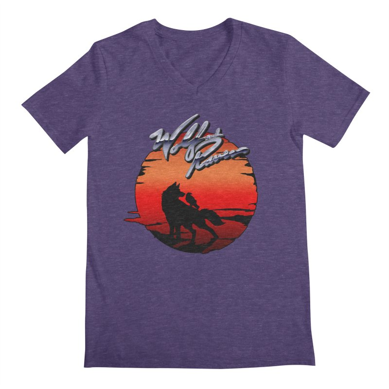 Wolf and Raven Sunset 1 Men's Regular V-Neck by Wolf and Raven Artist Shop