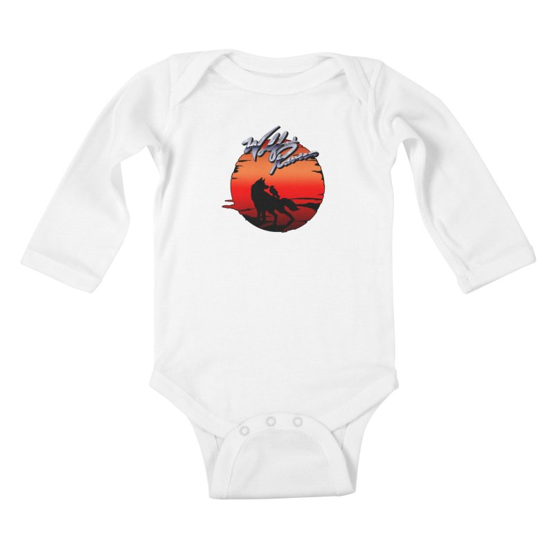 Wolf and Raven Sunset 1 Kids Baby Longsleeve Bodysuit by Wolf and Raven Artist Shop