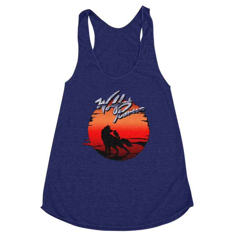 Wolf and Raven Sunset 1 Women's Racerback Triblend Tank by Wolf and Raven Artist Shop
