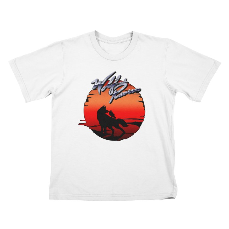 Wolf and Raven Sunset 1 Kids T-Shirt by Wolf and Raven Artist Shop