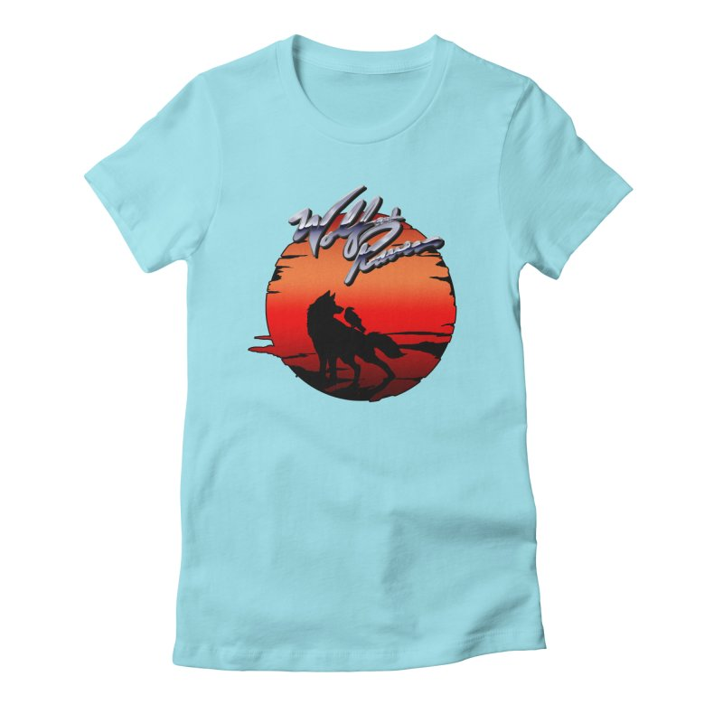 Wolf and Raven Sunset 1 Women's Fitted T-Shirt by Wolf and Raven Artist Shop