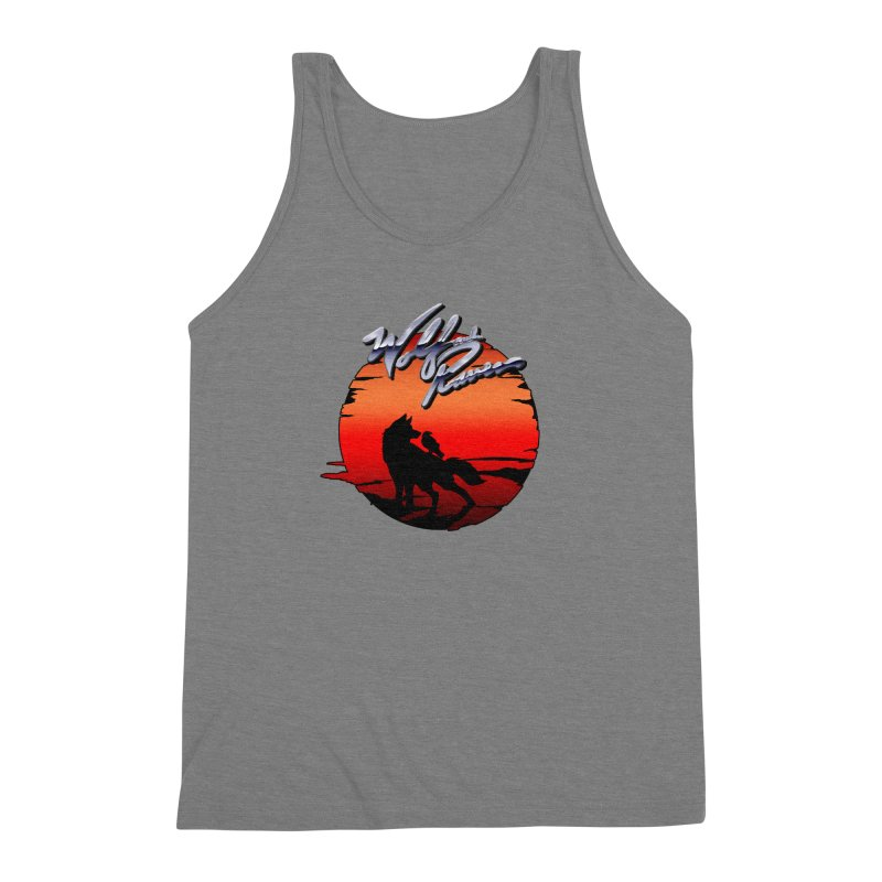 Wolf and Raven Sunset 1 Men's Triblend Tank by Wolf and Raven Artist Shop