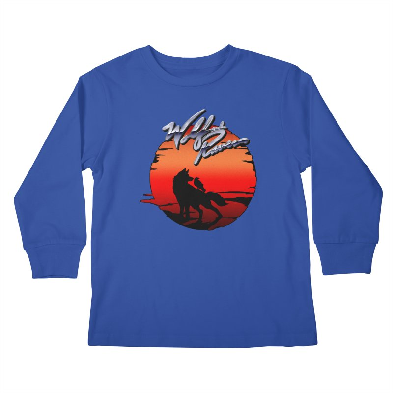 Wolf and Raven Sunset 1 Kids Longsleeve T-Shirt by Wolf and Raven Artist Shop