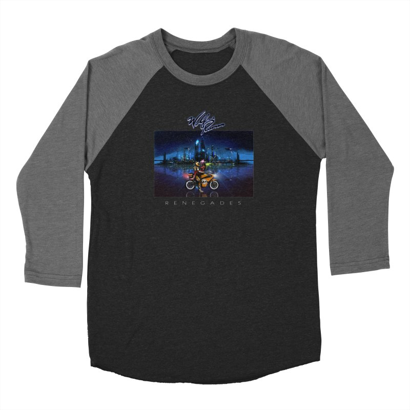 Wolf and Raven Renegades Artwork Men's Baseball Triblend Longsleeve T-Shirt by Wolf and Raven Artist Shop