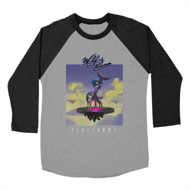 Wolf and Raven Platforms Women's Baseball Triblend Longsleeve T-Shirt by Wolf and Raven Artist Shop