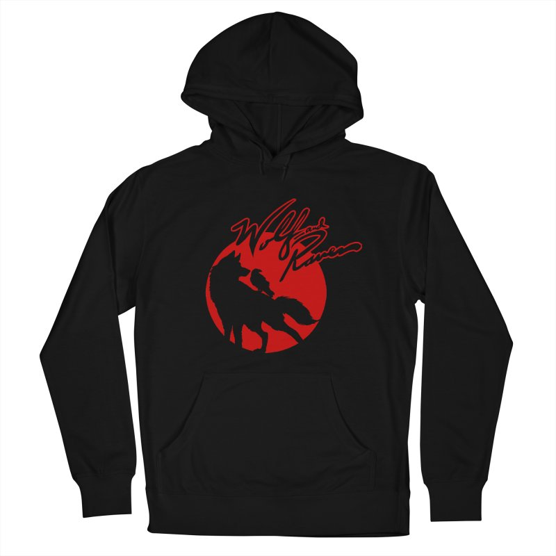 Wolf and Raven Red Men's French Terry Pullover Hoody by Wolf and Raven Artist Shop
