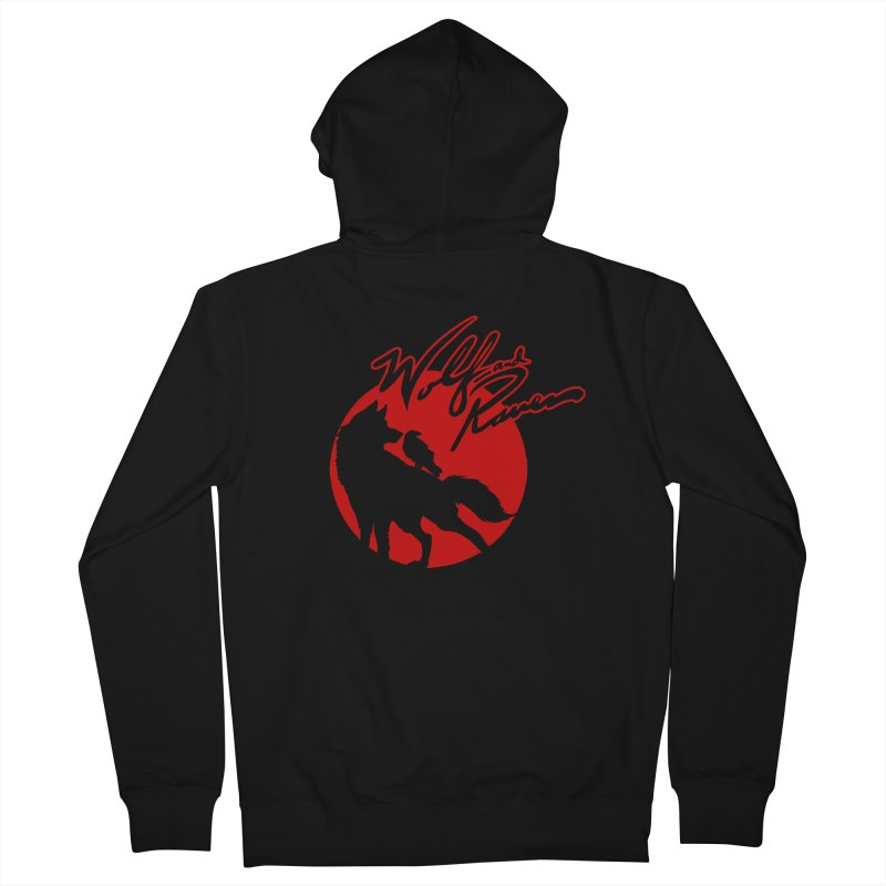 Wolf and Raven Red Men's Zip-Up Hoody by Wolf and Raven Artist Shop