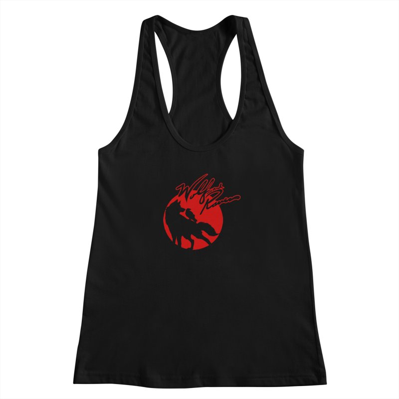 Wolf and Raven Red Women's Racerback Tank by Wolf and Raven Artist Shop