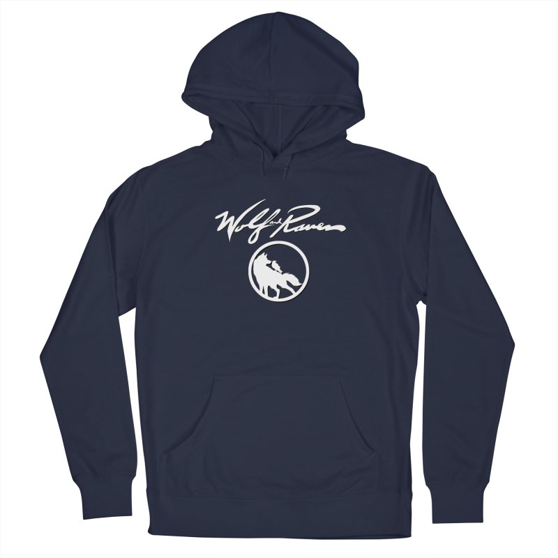 Wolf and Raven Cursive Men's Pullover Hoody by Wolf and Raven Artist Shop