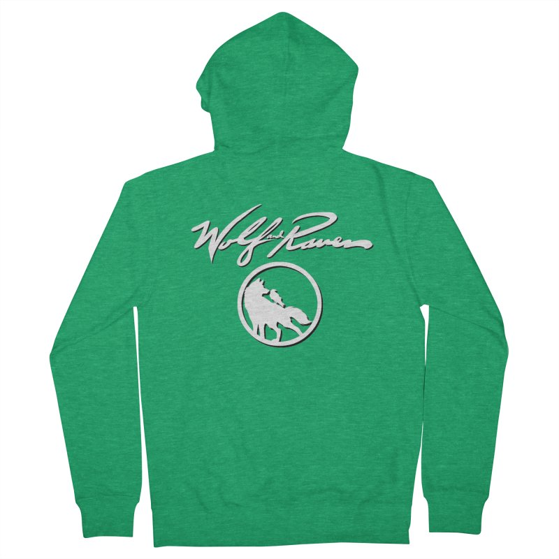 Wolf and Raven Cursive Men's Zip-Up Hoody by Wolf and Raven Artist Shop
